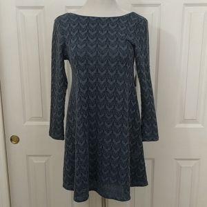 NWT Altar'd State blue long sleeve dress size S
